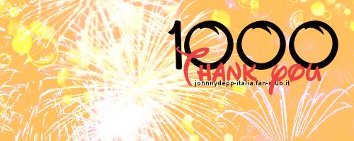 1000... il nostro primo traguardo